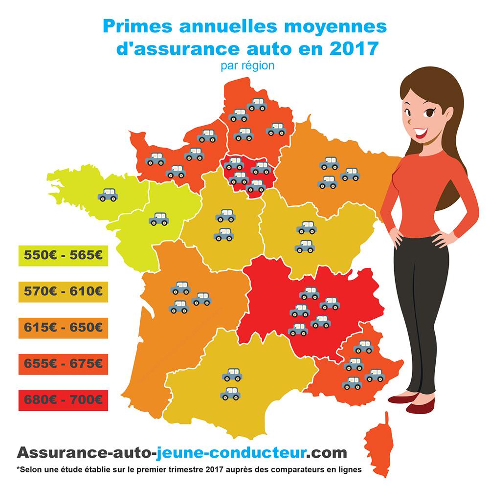 dans quelle region paie-ton le moins cher son assurance auto